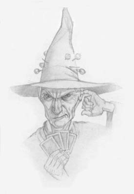 "Granny Weatherwax as portrayed by Paul Kidby in ""The Pratchett Portfolio"""