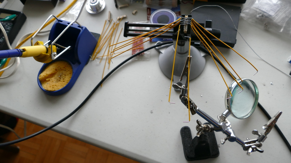 soldering jumpers on alternate sides of a connector with very narrow centres