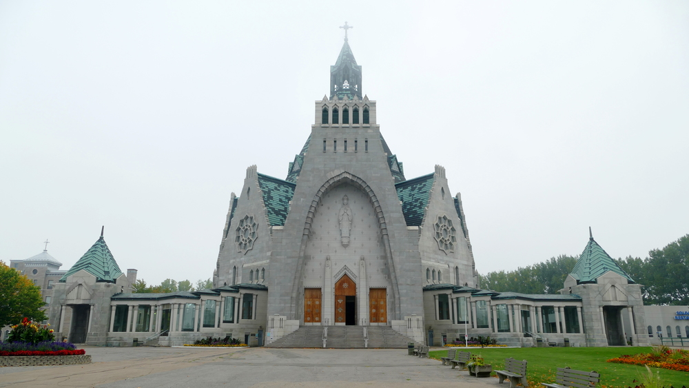 Big grey stone art deco church