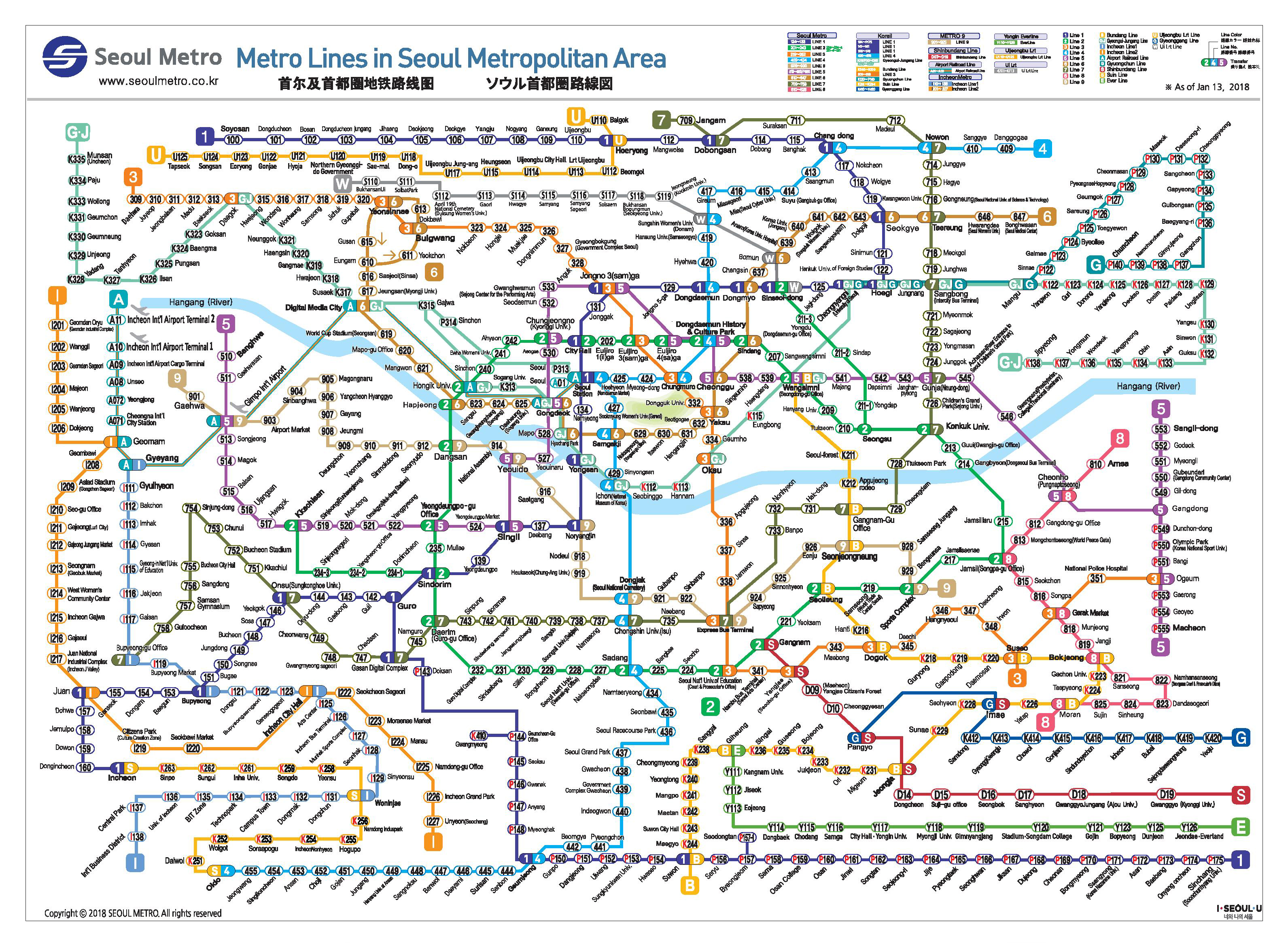 Toronto Bus And Subway Map.Metros Toronto Tokyo And Seoul
