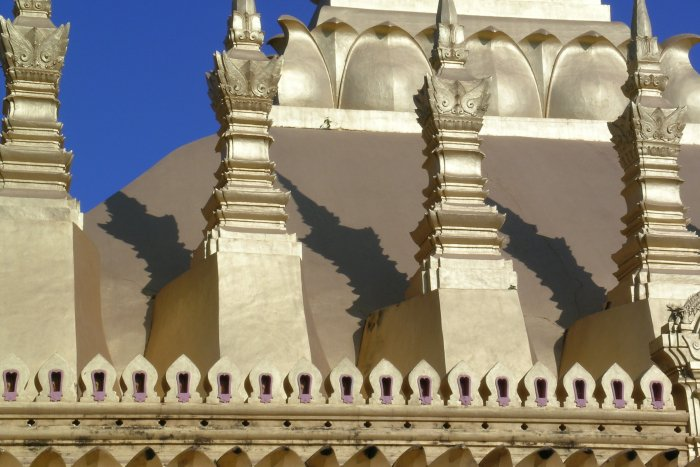 A closer look at the spires and the shadows they cast.