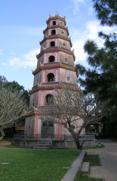 The octagonal tower of Thien Mu Pagoda