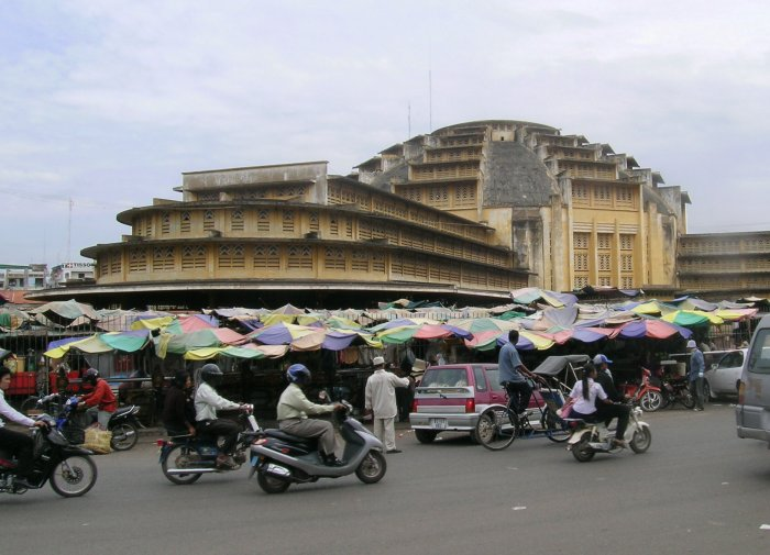 Psar Thmei in downtown Phnom Penh