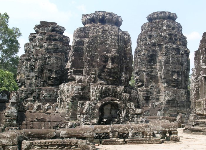 The stone faces of Bayon