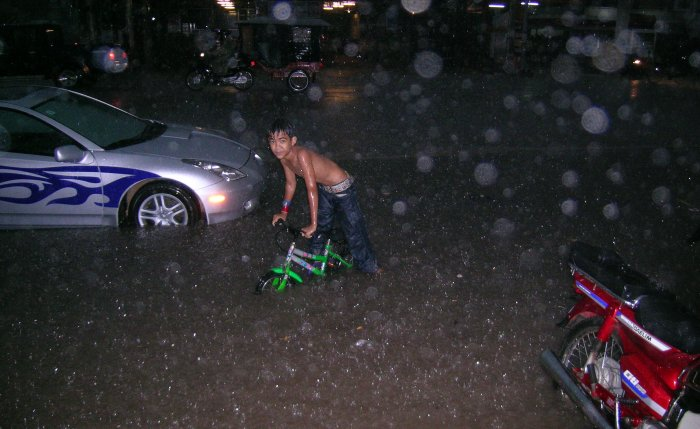 Bicycling in 15cm of water
