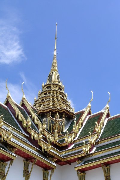 Ornate golden roof-line